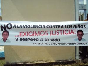 Pancarta escuela Ninos tame 300x225