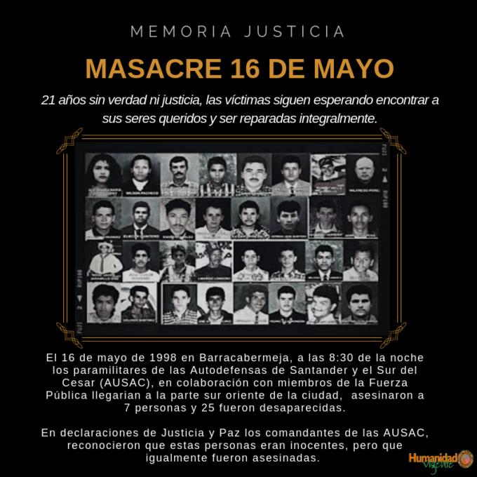 masacre 16 de mayo