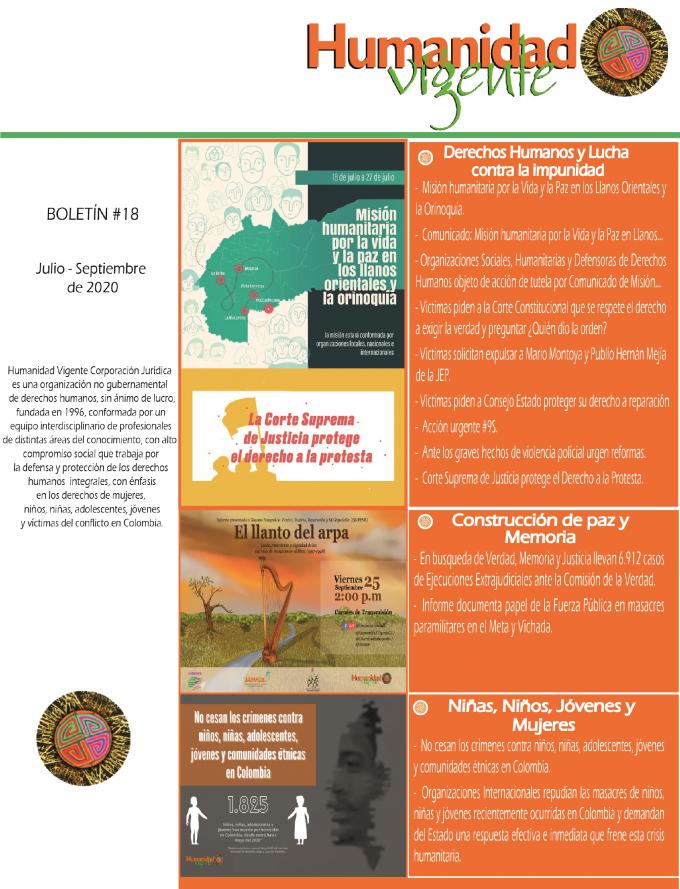 Boletin Julio – Septiembre 2020 Portada
