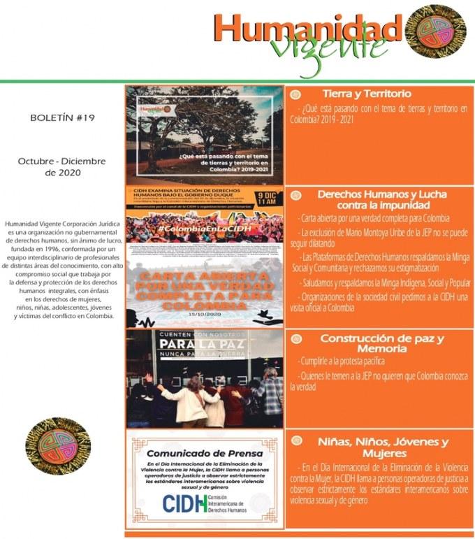 Boletín Octubre – Diciembre 2020 Portada