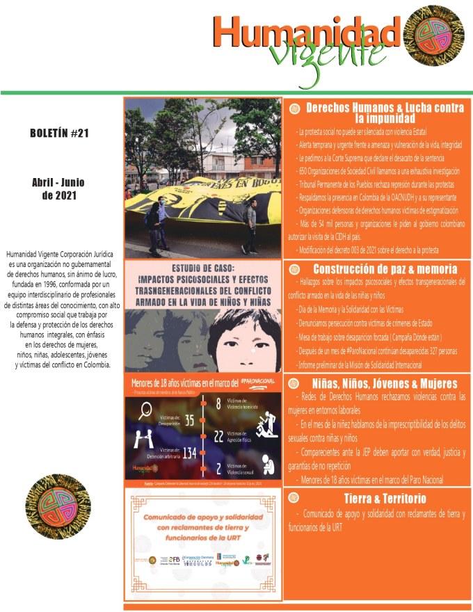 Boletín Abril – Junio 2021 Portada